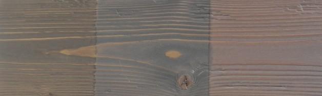 5 – Verni métalisé sur bois brossé éclaté